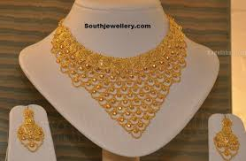 gold necklace jewellery images Bridal gold necklace jewellery designs jpg