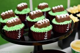 football cupcakes football party snack bar as the bunny hops