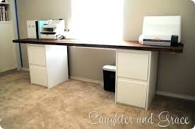 Diy Desk With File Cabinets Desk With File Cabinet Home Office Desk With File Cabinet Desks