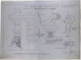 the burgher wachthuis capetown details of ornamental plasterwork