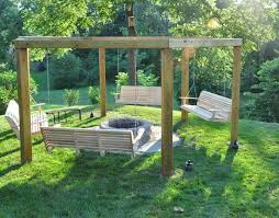 fire pit ideas with swings backyard swings and fire pit design and
