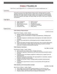 public relation officer resume sample public relations resume