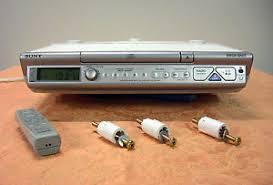 Kitchen Radios Under Cabinet Sony Icf Cd543rm Kitchen Under Cabinet Mount Cd Player Am Fm Clock