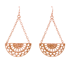 hanging earrings ottoman hanging earring in gold murkani