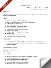 Restaurant Manager Resume Template Sle Resume For Operations Manager Senior Project Manager