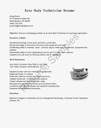 Central Service Technician Resume Sample by Body Shop Manager Cover Letter
