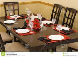 dining room table setting royalty free stock photos image 4015158