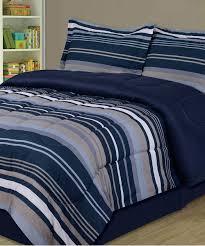 zulily home decor beatrice home blue u0026 slate stripe comforter set zulily