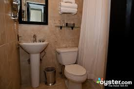 bathroom in the parlour king room at the mansfield hotel oyster com