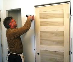 Oak Interior Doors Home Depot Stunning How To Install A New Interior Door Photos Amazing