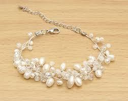 white pearl bracelet images White pearl bracelet etsy jpg