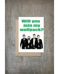 wedding card for groom deal on will you join my wolfpack card will you be my