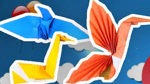 how to make an origami bird collection diy craft ideas for kids