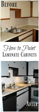 how to paint laminate cabinets painting laminate cabinets diy danielle