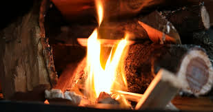 Sparks Fireplace - blacksmith furnace and shower of sparks stock footage video