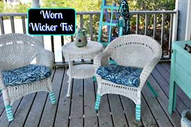 How To Repair Wicker Patio Furniture - creations worn wicker fix the painted apron