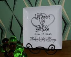 personalized wedding plate wedding gift plates etsy