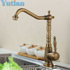 kitchen faucet brass hotaan home improvement accessories antique brass kitchen faucet