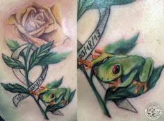 frog lily tattoo tree frog on lily pad 2008 alma is a