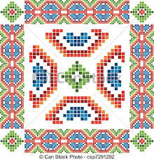 vector illustration of traditional mexican ornaments set
