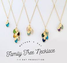 s day birthstone necklace personalized mothers day gift for family tree jewelry