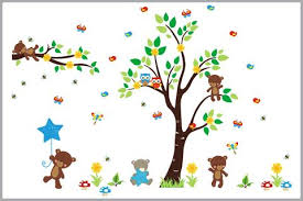 fun furry woodland creatures forest wall decals nursery