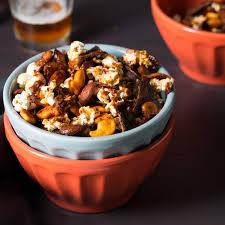 Halloween Snack Mix Recipes Scary Barbecue Snack Mix Recipe Epicurious Com