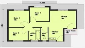 Modern Three Bedroom House Plans - 3 bedroom house plans in south africa savae org