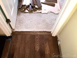 upstairs hallway installing hardwood floors and carpet or in