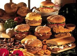 table full of food supersizedmeals com a sandwich artist s dream