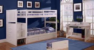 Bedroom Furniture Bundles Discovery World Furniture Twin Over Twin White Staircase Bunk Beds