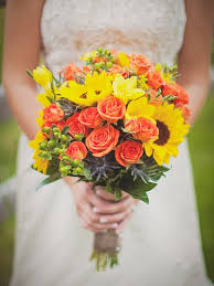 Sunflower Wedding Bouquet A Wedding Of Sunflowers Funny How Flowers Do That
