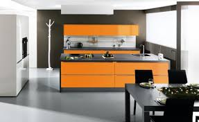 cuisine de couleur cuisine orange top cuisine