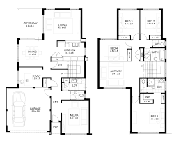 modern houses floor plans unique 2 story house plans two with loft 1 1 2 garage soiaya