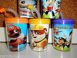 favor cups paw patrol party favor cups thanks for coming personalized treat