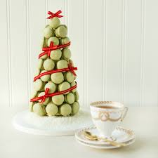 thirsty for tea macaron christmas tree