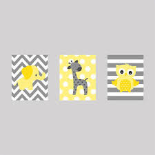 Yellow Gray Nursery Decor Shop Baby Elephant Nursery On Wanelo