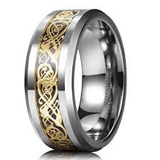 celtic mens wedding bands king will 8mm gold celtic tungsten carbide mens