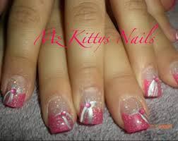 pink french tip nail designs pink white french tip and