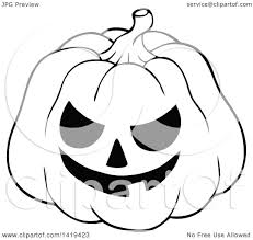 clipart of halloween clipart of a black and white carved halloween jackolantern pumpkin
