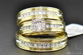 his and hers matching wedding rings 2017 diamond trio set his hers matching engagement ring wedding