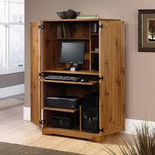 Computer Armoire Sauder by Amazon Com Sugar Creek Computer Armoire Kitchen U0026 Dining