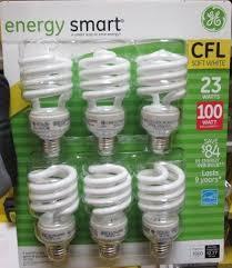 ge energy smart cfl light bulbs 13 watt 60w equivalent ge 23 watt energy smart cfl 100 watt replacement pack of 6