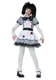girls black cat halloween costume girls haunted doll costume