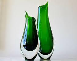 Glass Vase Art Art Glass Vase Etsy
