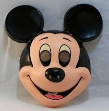 vintage mickey mouse halloween mask walt disney costume ben cooper