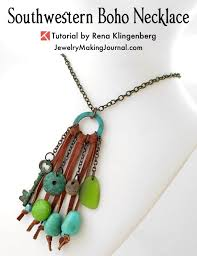 necklace boho images Southwestern boho necklace tutorial jewelry making journal jpg