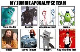 Zombie Team Meme - destikim s zombie apocalypse team by niban destikim on deviantart