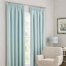 Mint Blue Curtains Solar Mint Blackout Pencil Pleat Curtains Dunelm Girls Room
