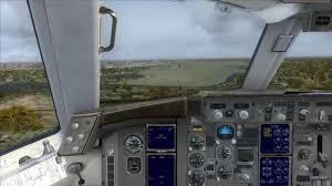 cockpit boeing 757 300 landing at bremen youtube